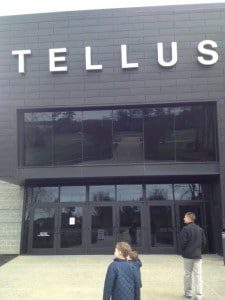 A chilly walk from the car later, we are here at the Tellus Science Museum.  No food or drinks allowed inside.  Bummer.