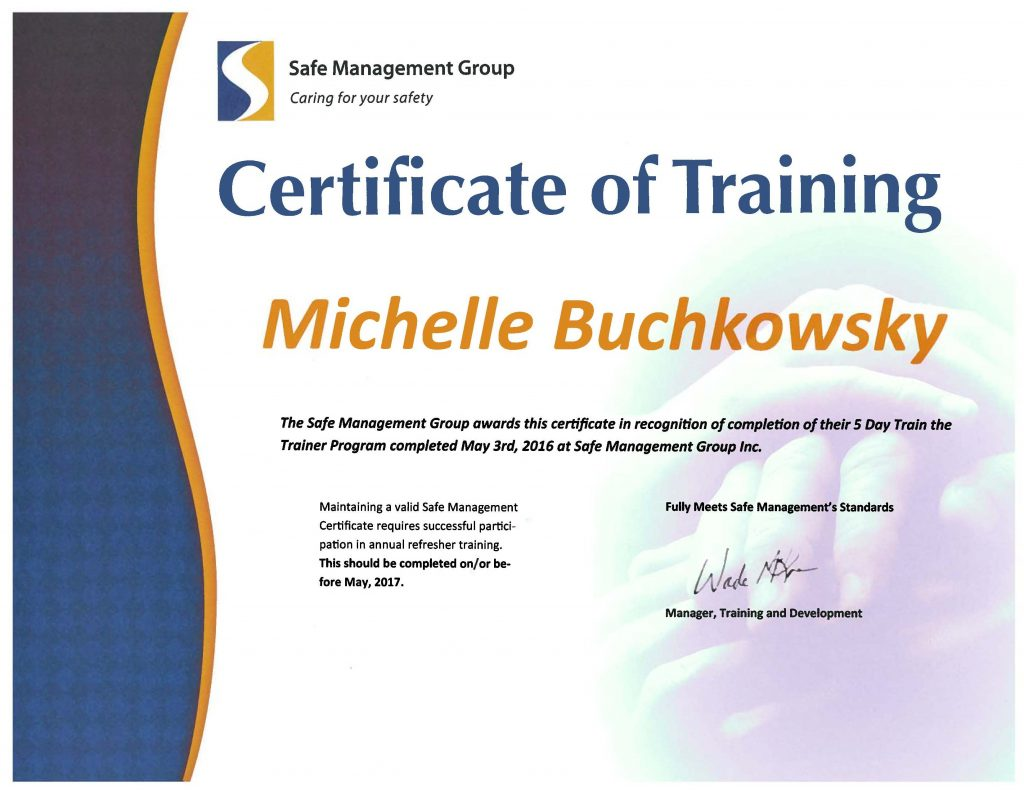 Certificate Reprint | Safe Management Group