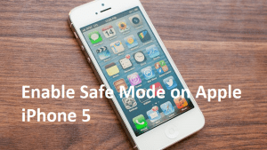 Enable Safe Mode on Apple iPhone 5