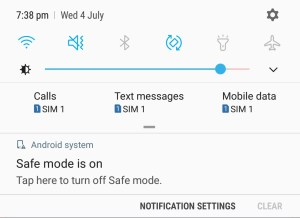 Disable Safe Mode on Samsung Galaxy