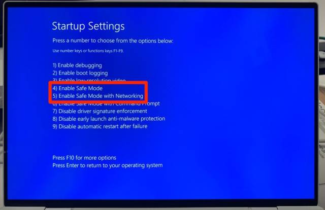 Boot Windows 10 in Safe mode and exit