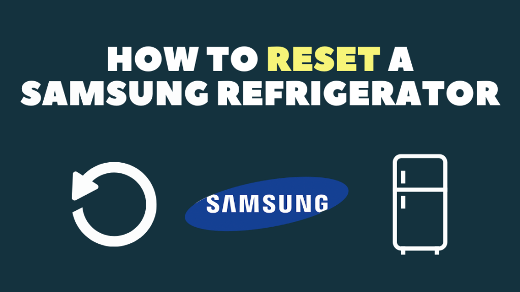 How to reset your Samsung Refrigerator from shop/demo mode