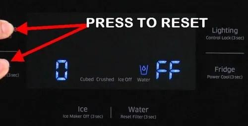 Samsung Refrigerator OF OF Code