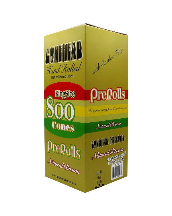 ConeHeads King Size Pre-Rolled Cones Brown