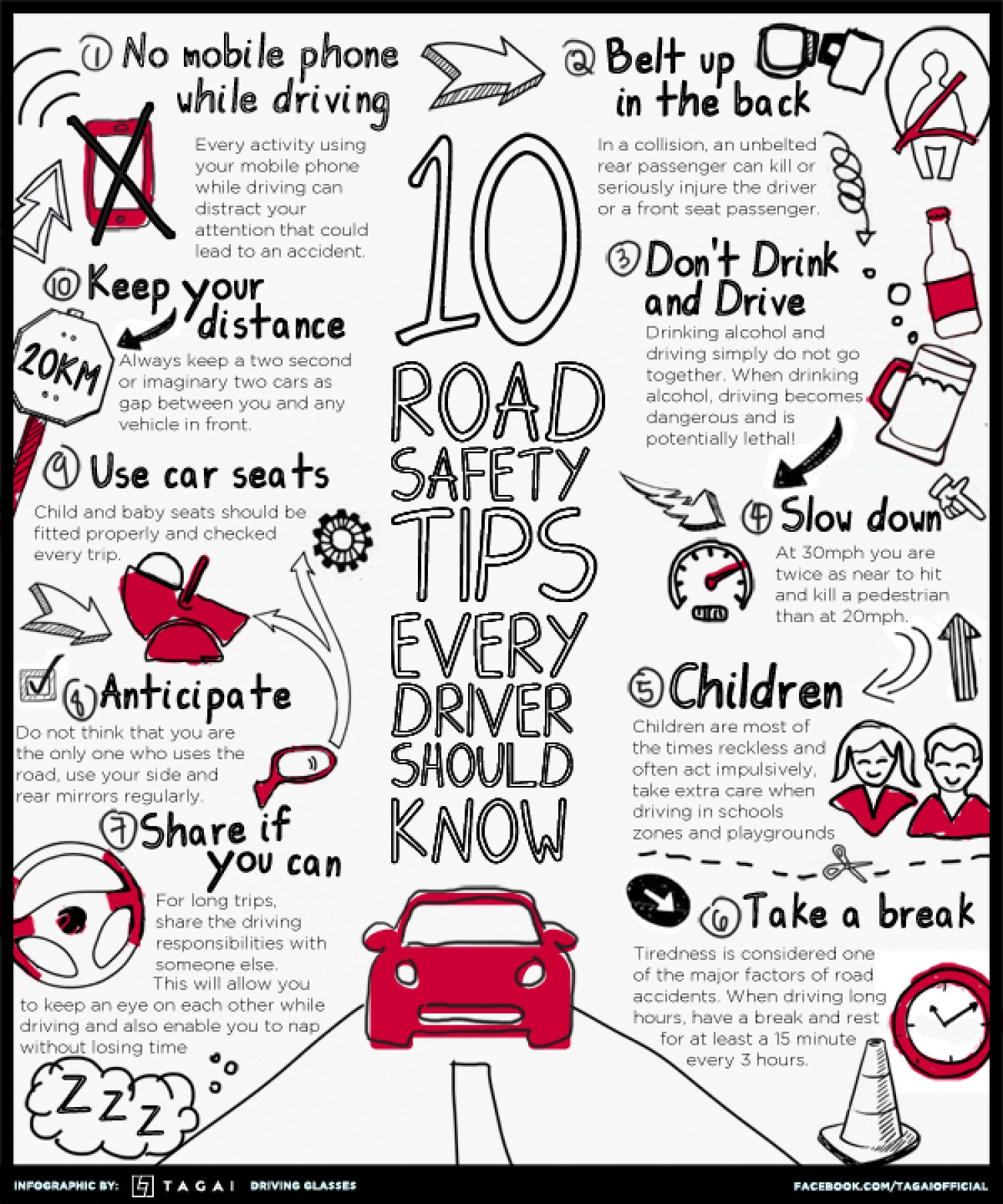 10 X2 Tips For Safe Driving
