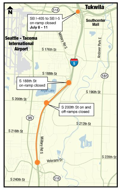 weekend i5 closure