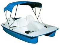 Brand New 8 ft 2 Person Polyethylene Paddle Boat w/ Canopy