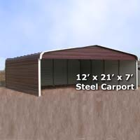 24x26 Fully Enclosed Steel Garage Carport Installation
