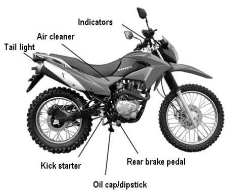 250cc Magician Dirt Bike Enduro Dual Sport 5 Speed Manual