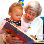 grandparent reading to child