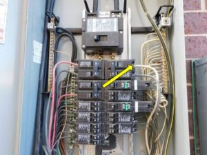 White wire in electrical panel