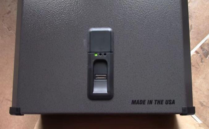 biometric gun safe stack on