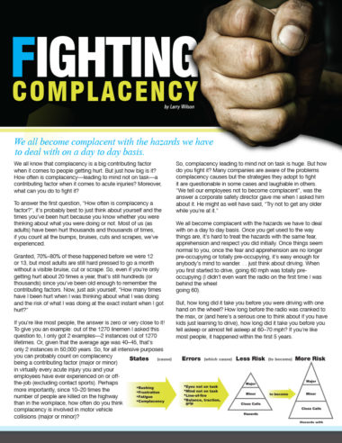 Fighting Complacency  SafeStart