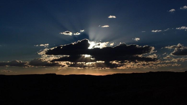 Sonnenuntergang über dem Arches National Park