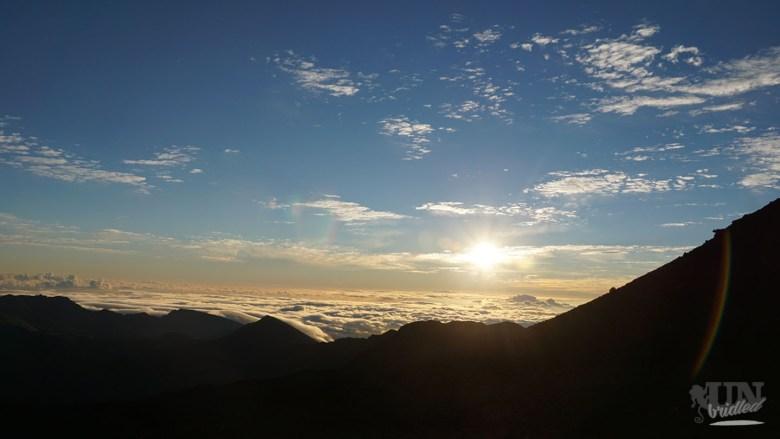 Der Moment des Sonnenaufgangs verfliegt in Windeseile