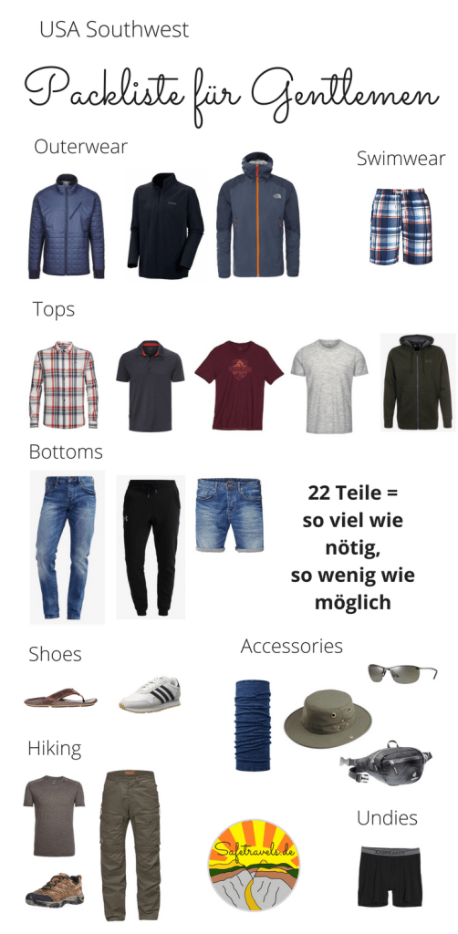 Packliste Gentlemen Pin