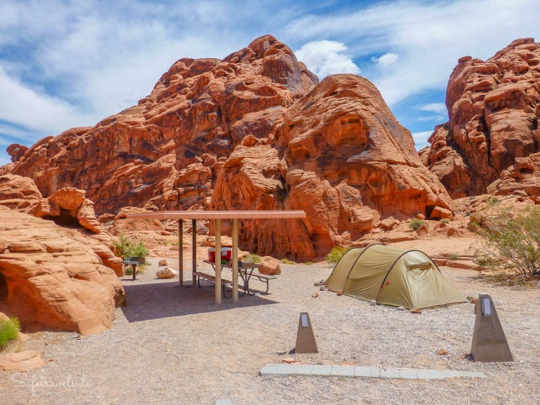 Auf dem Arch Rock Campground