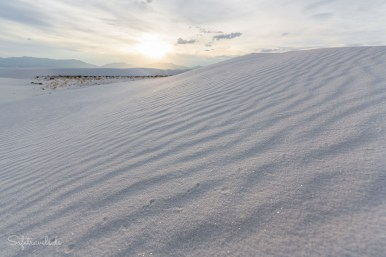 Sonnenuntergang in White Sands