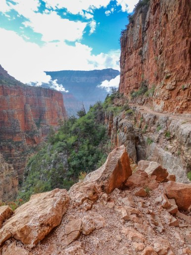 North Kaibab Trail in der Red Wall