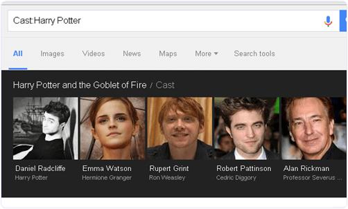 Google Find Actor Names
