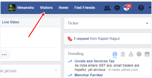 facebook-visitor-tab  How To See Who View Your Facebook Profile facebook visitor tab