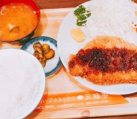三福亭のとんかつ定食