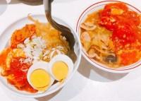 半蒙古丼と蒙古タンメンのセット