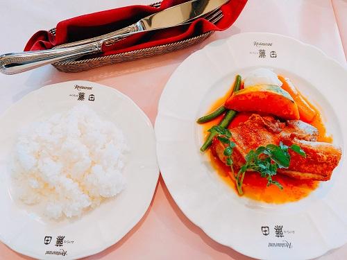 ムッシュ藤田の阿波尾鶏ソテーランチ(ジンジャーソース)
