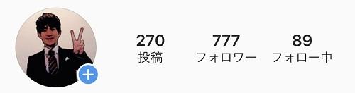フォロワー777人