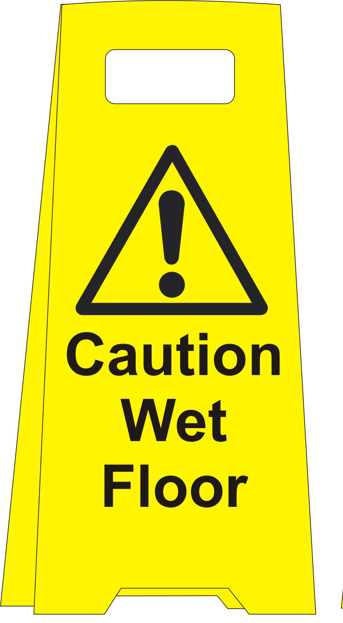 Caution Wet Floor Floor standing sign