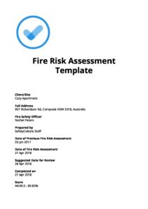 Free Download] Fire Risk Assessment Template - iAuditor