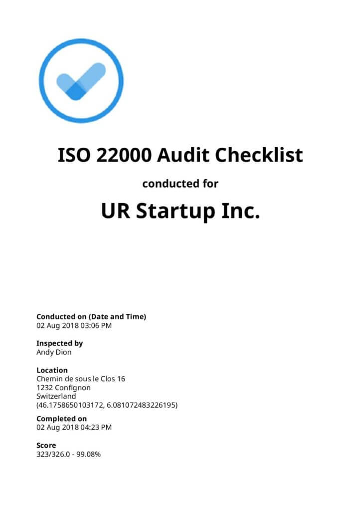 ISO 22000 Audit Checklist [Free Download]