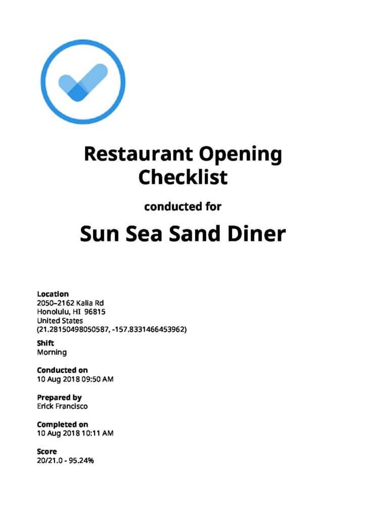 Restaurant Operation Checklists: Top 4 [Free Download]