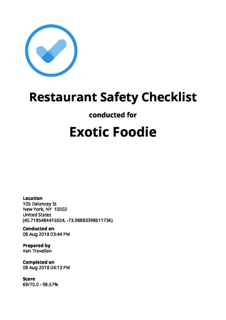 Restaurant Audit Checklists [Free Download]