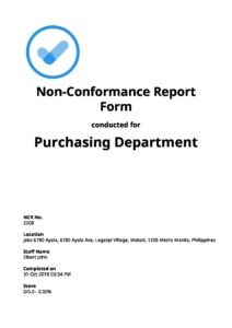 Non-Conformance Report Forms [Free Download]