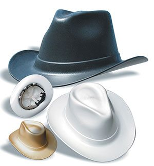 Vulcan® Cowboy Hard Hats   ANSI Z89.1 rated   [On Sale + Free Shipping]