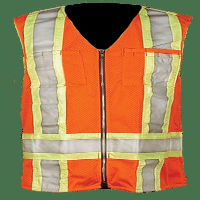 orange-mesh-polyester-vest