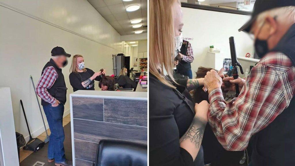À 79 ans, il prend des cours pour maquiller et coiffer sa femme