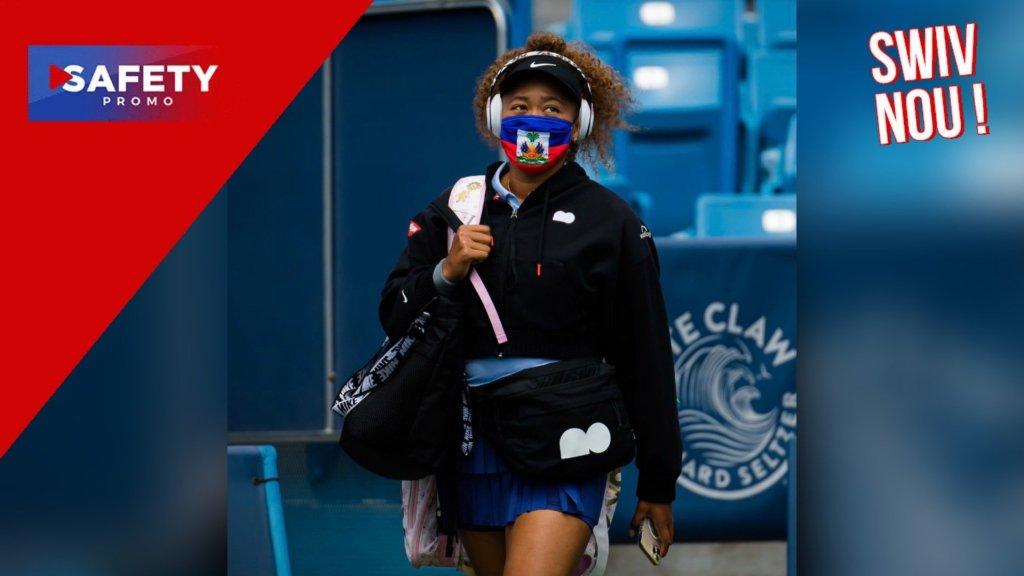 Naomi Osaka a porté un masque aux couleurs du drapeau haïtien dans le tournoi de Cincinnati