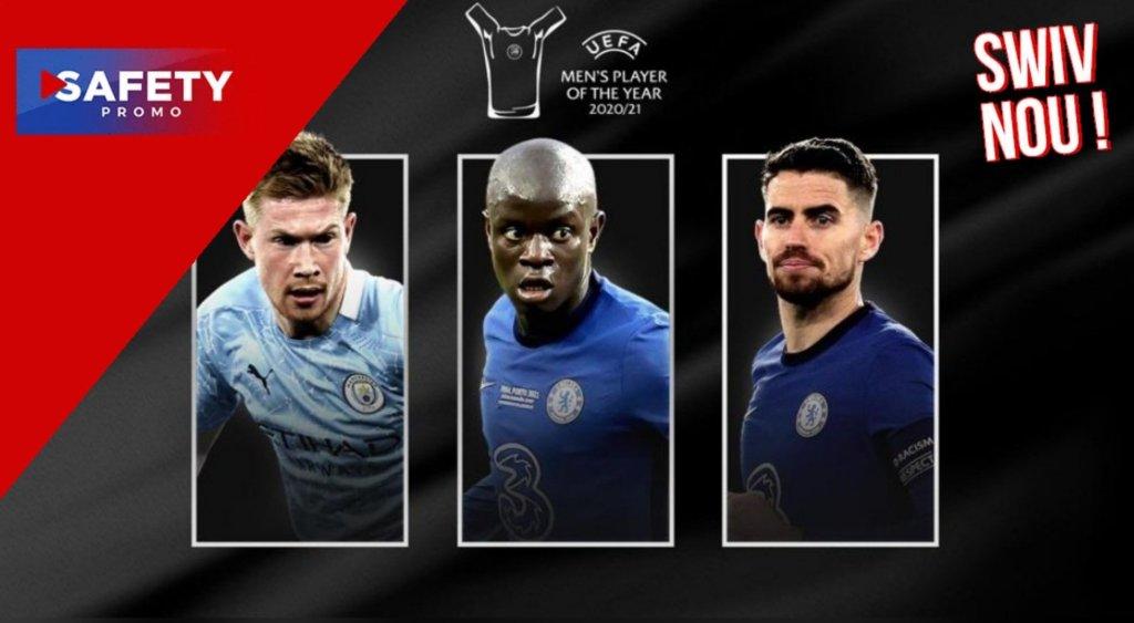 De Bruyne, Jorginho et Kanté nommés pour le Joueur de l'année UEFA