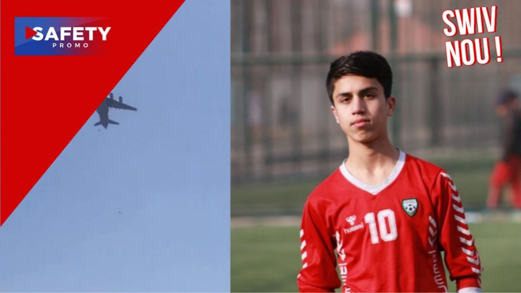 Un jeune footballeur international afghan perd la vie en tombant d'un avion auquel il s'était accroché