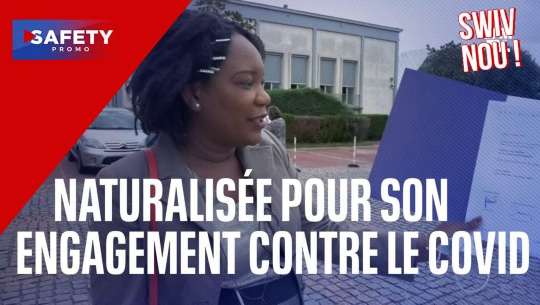 Aide-soignante d'origine haïtienne en première ligne de la crise sanitaire, Jolitha vient d'être naturalisée française