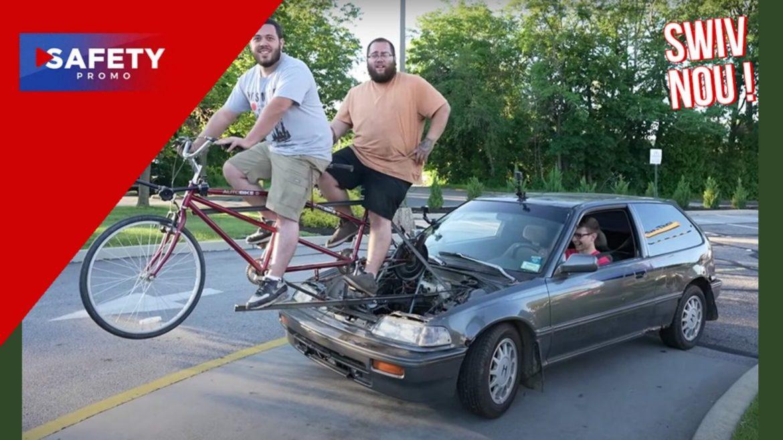 Ces deux génies ont inventé une voiture qui roule grâce à un vélo