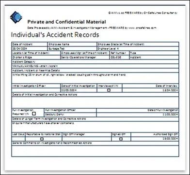 Free Accident Investigation Software - SafetyRisk net
