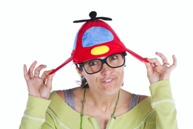 Woman with a funny hat