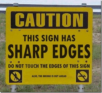Image result for pics of not heeding the warning