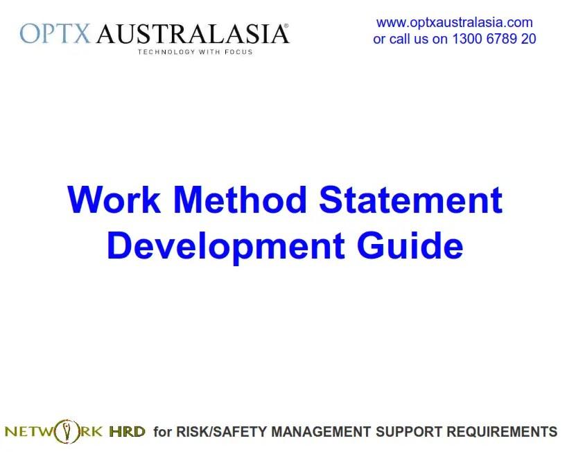 Work Method Statement Development Guide • SafetyRisk.net