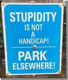 stupidity handicap