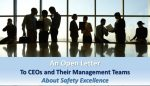 An Open Letter to the CEOs and Their Management Teams About Safety Excellence