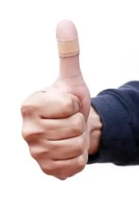 Bandaged Thumb Up